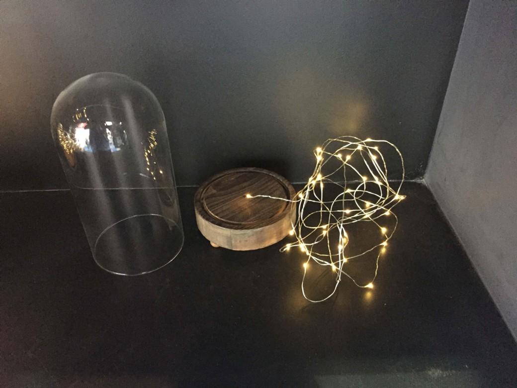 haco! LEDガラスドームライト HIGH Sサイズ <ブラウン系その他>の商品写真3