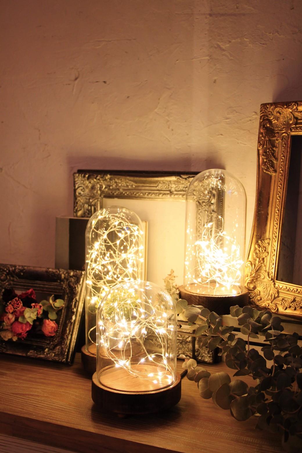 haco! LEDガラスドームライト HIGH Sサイズ <ブラウン系その他>の商品写真1