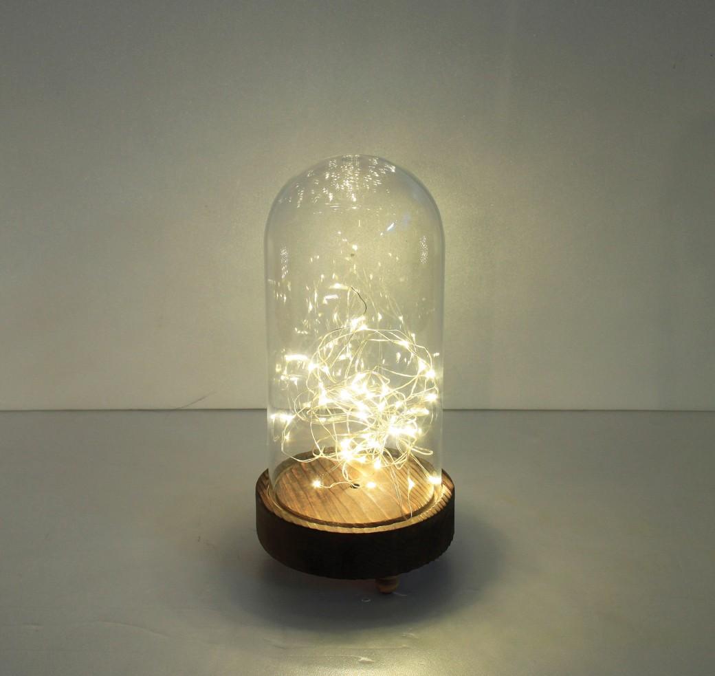 haco! LEDガラスドームライト HIGH Sサイズ <ブラウン系その他>の商品写真2
