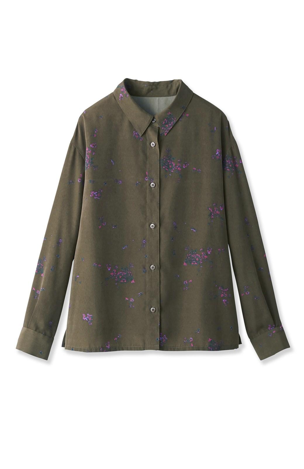 haco! UNICOLART SEII SATOSHI [世界] とろみシャツ <カーキ>の商品写真2