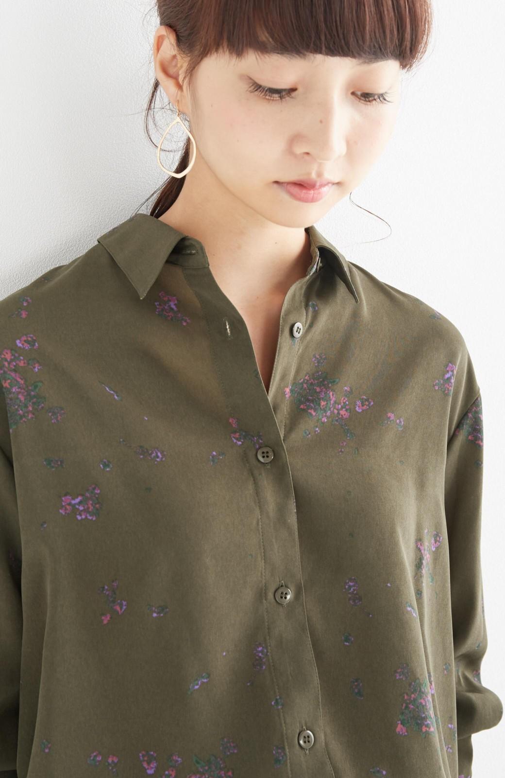 haco! UNICOLART SEII SATOSHI [世界] とろみシャツ <カーキ>の商品写真13