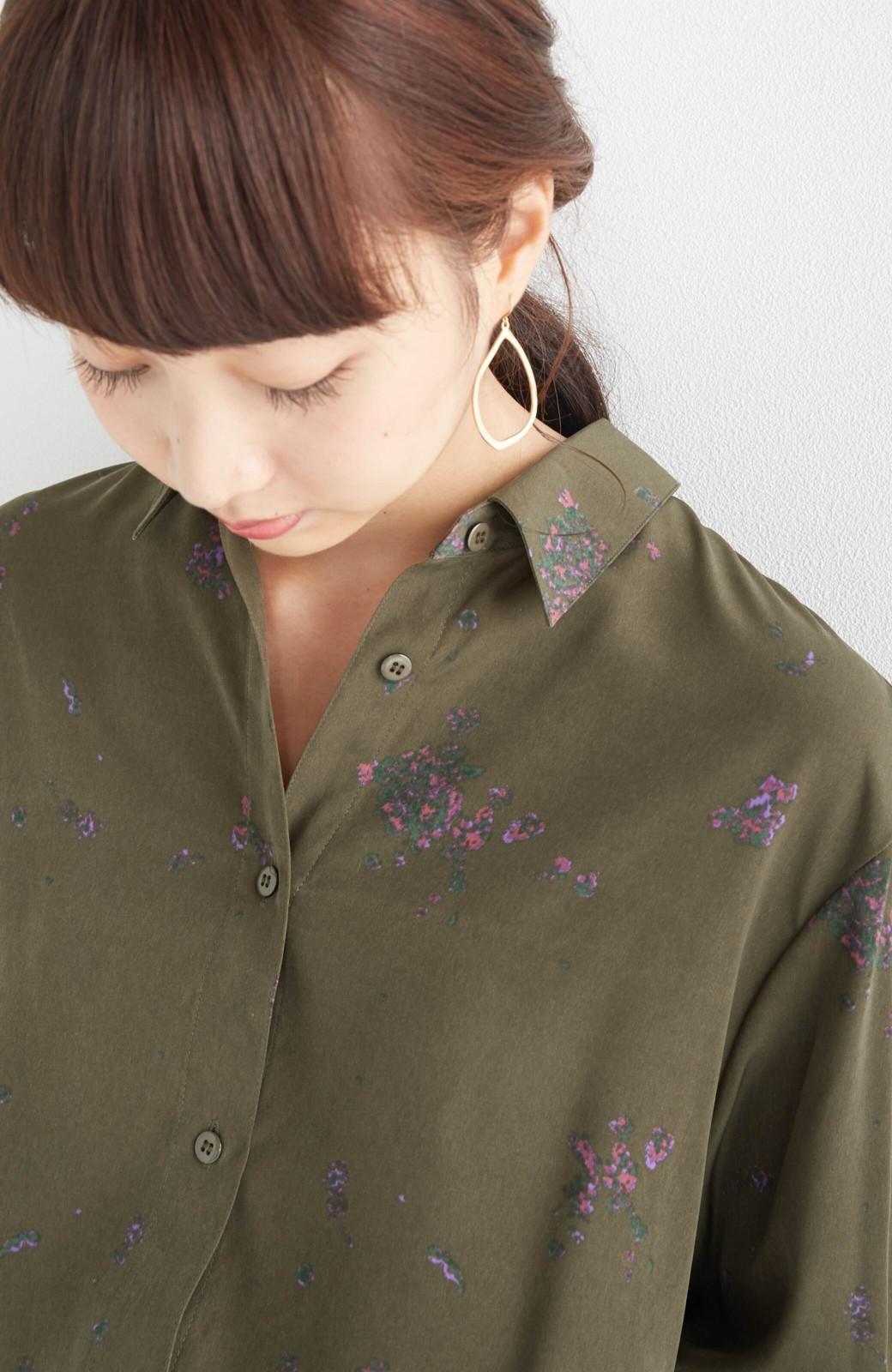 haco! UNICOLART SEII SATOSHI [世界] とろみシャツ <カーキ>の商品写真14