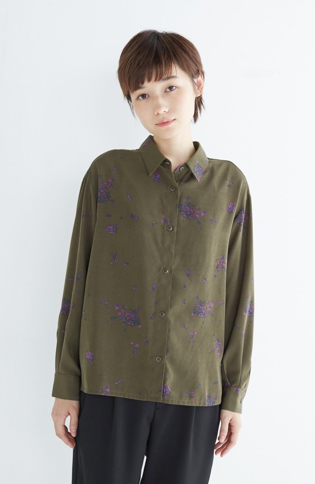 haco! UNICOLART SEII SATOSHI [世界] とろみシャツ <カーキ>の商品写真6