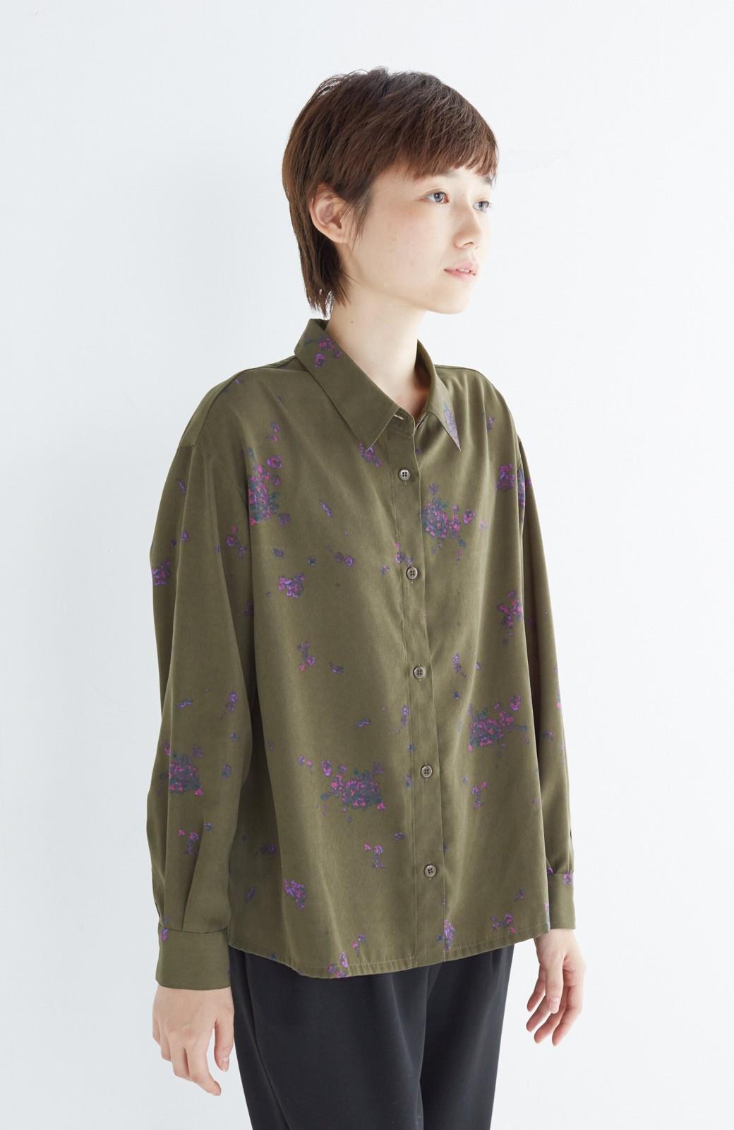 haco! UNICOLART SEII SATOSHI [世界] とろみシャツ <カーキ>の商品写真7