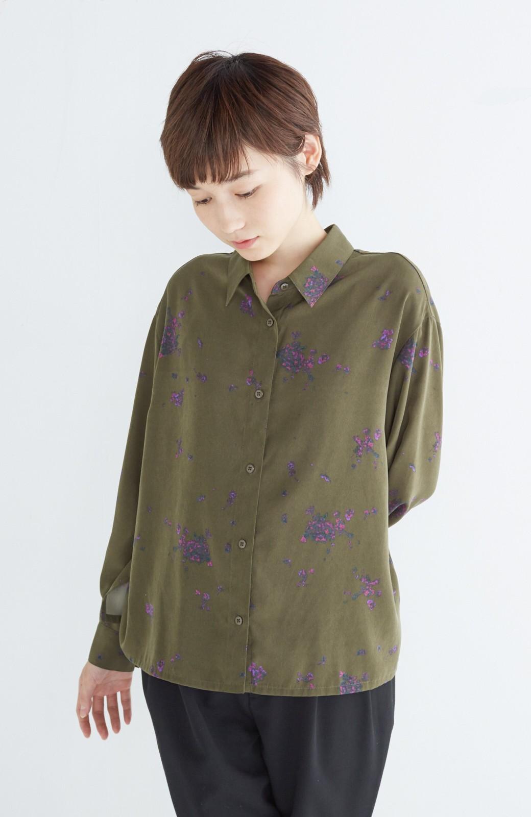 haco! UNICOLART SEII SATOSHI [世界] とろみシャツ <カーキ>の商品写真8