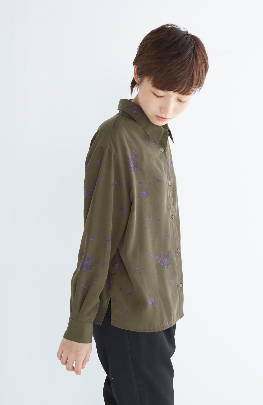 haco! UNICOLART SEII SATOSHI [世界] とろみシャツ <カーキ>の商品写真9
