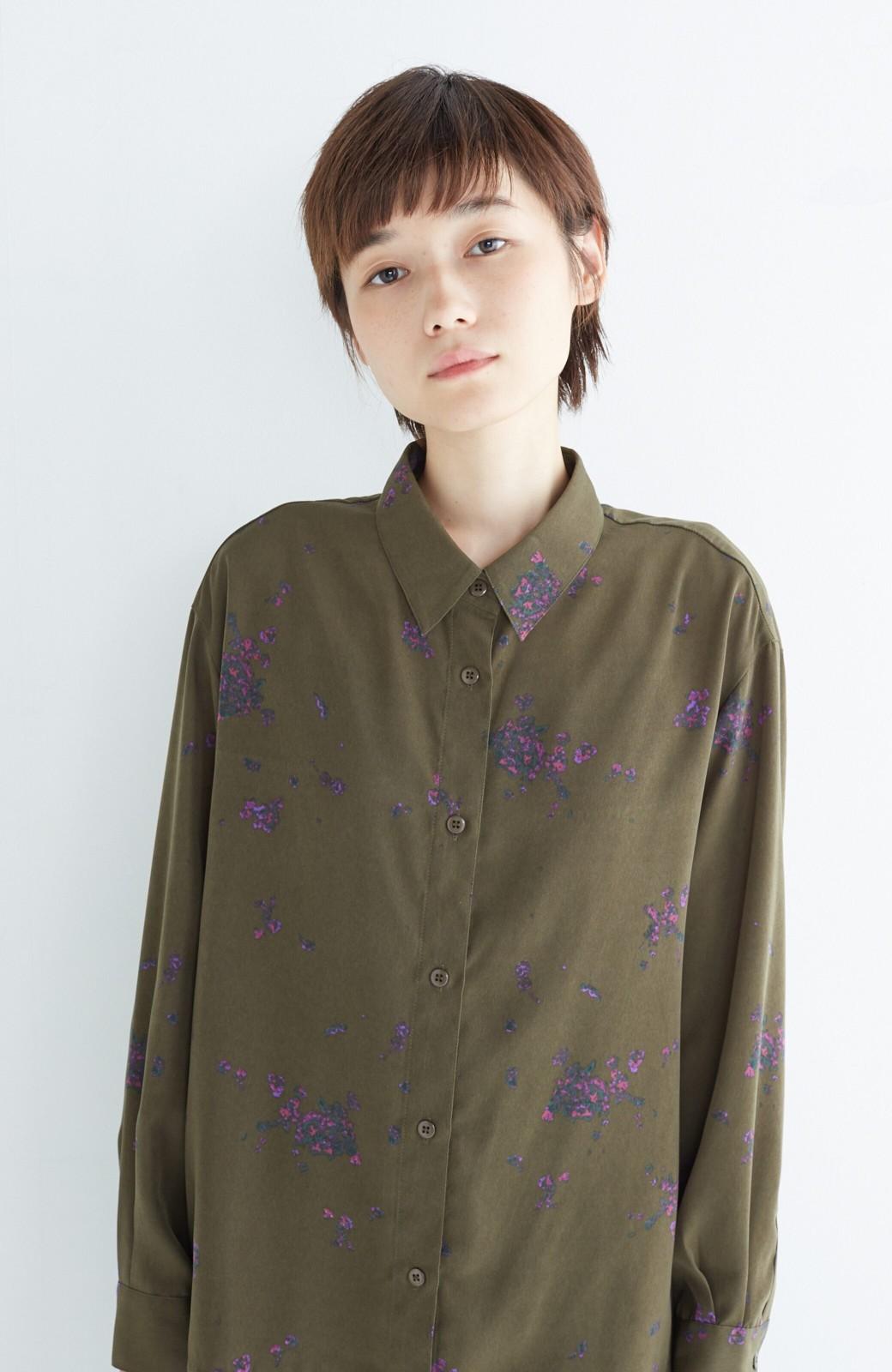 haco! UNICOLART SEII SATOSHI [世界] とろみシャツ <カーキ>の商品写真10