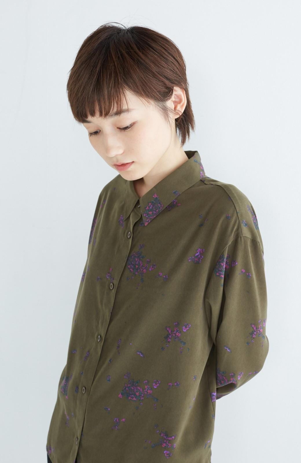haco! UNICOLART SEII SATOSHI [世界] とろみシャツ <カーキ>の商品写真11