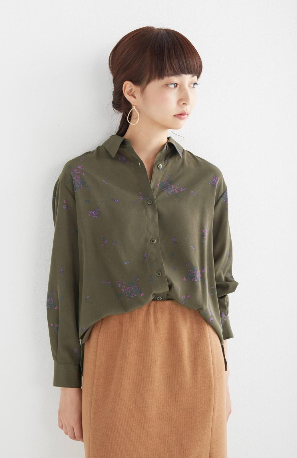 haco! UNICOLART SEII SATOSHI [世界] とろみシャツ <カーキ>の商品写真12
