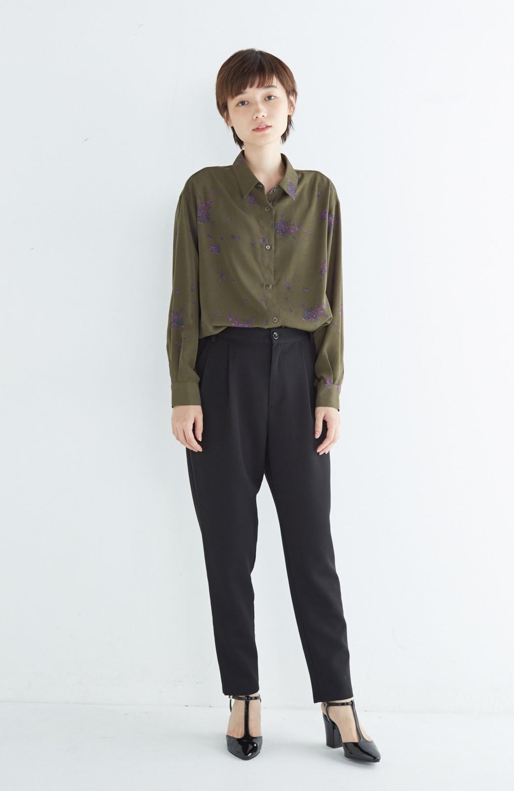 haco! UNICOLART SEII SATOSHI [世界] とろみシャツ <カーキ>の商品写真1