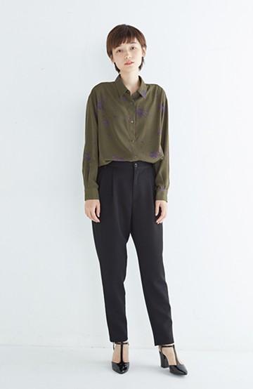 haco! UNICOLART SEII SATOSHI [世界] とろみシャツ <カーキ>の商品写真