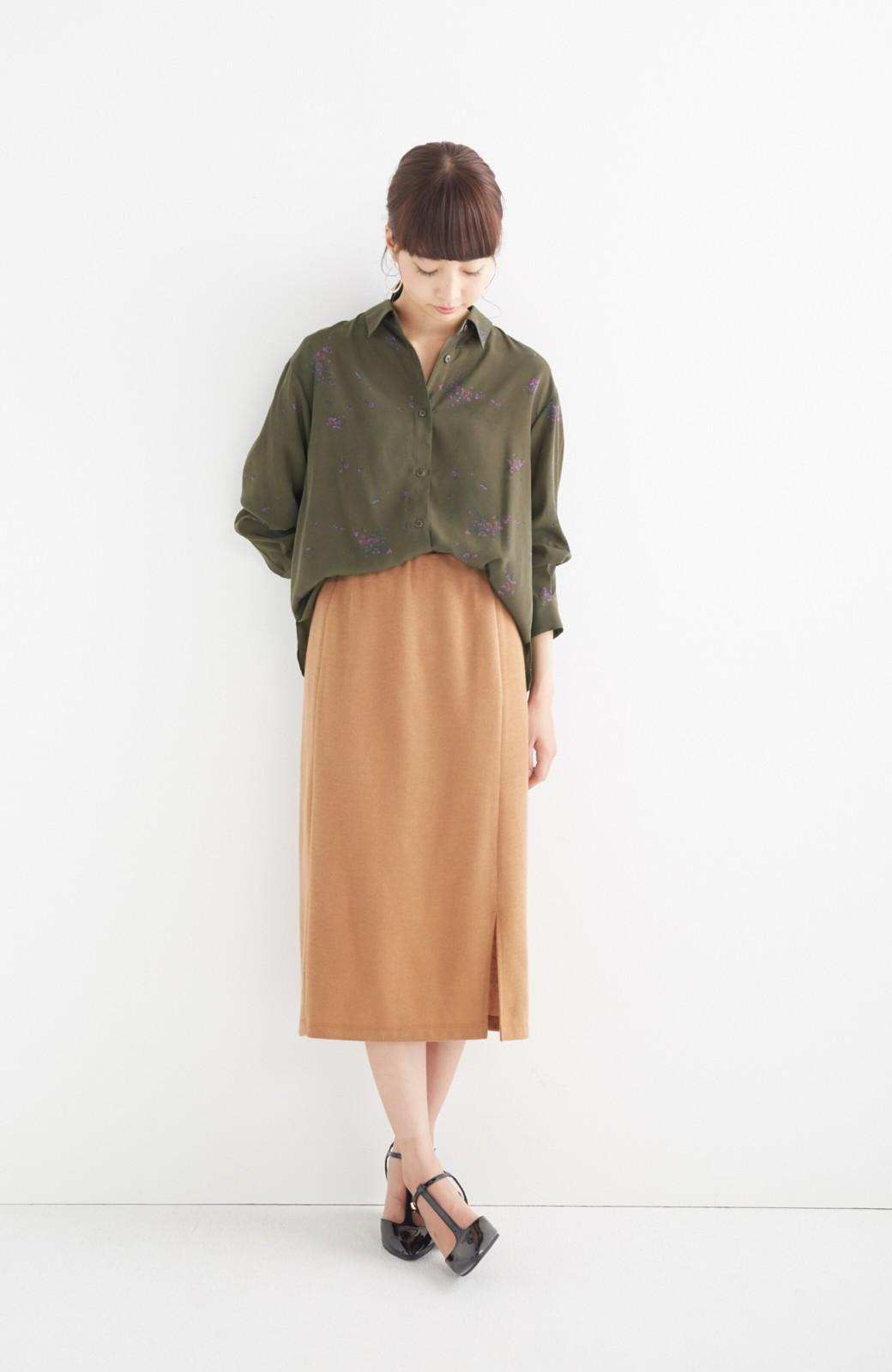 haco! UNICOLART SEII SATOSHI [世界] とろみシャツ <カーキ>の商品写真4