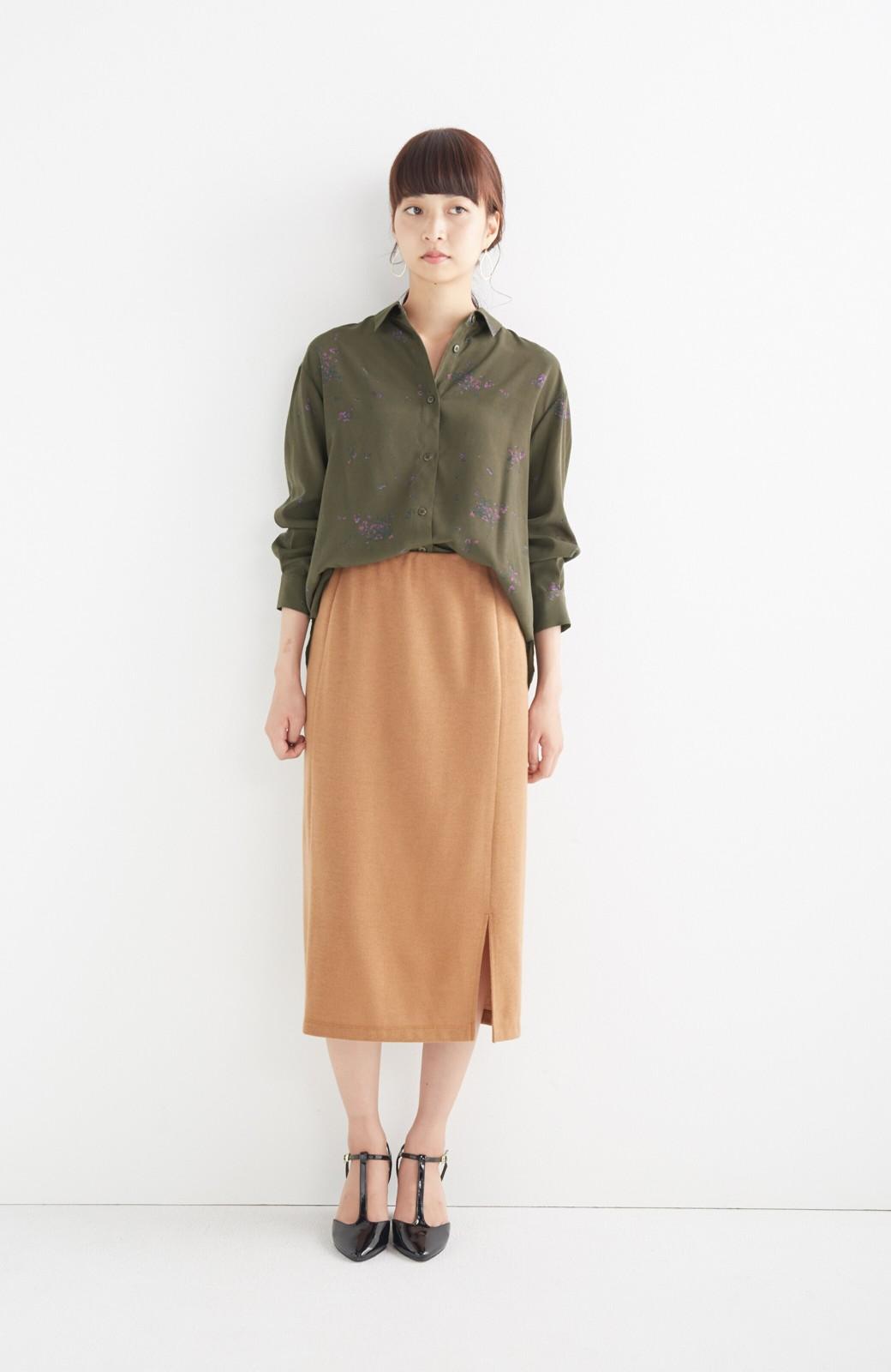 haco! UNICOLART SEII SATOSHI [世界] とろみシャツ <カーキ>の商品写真5