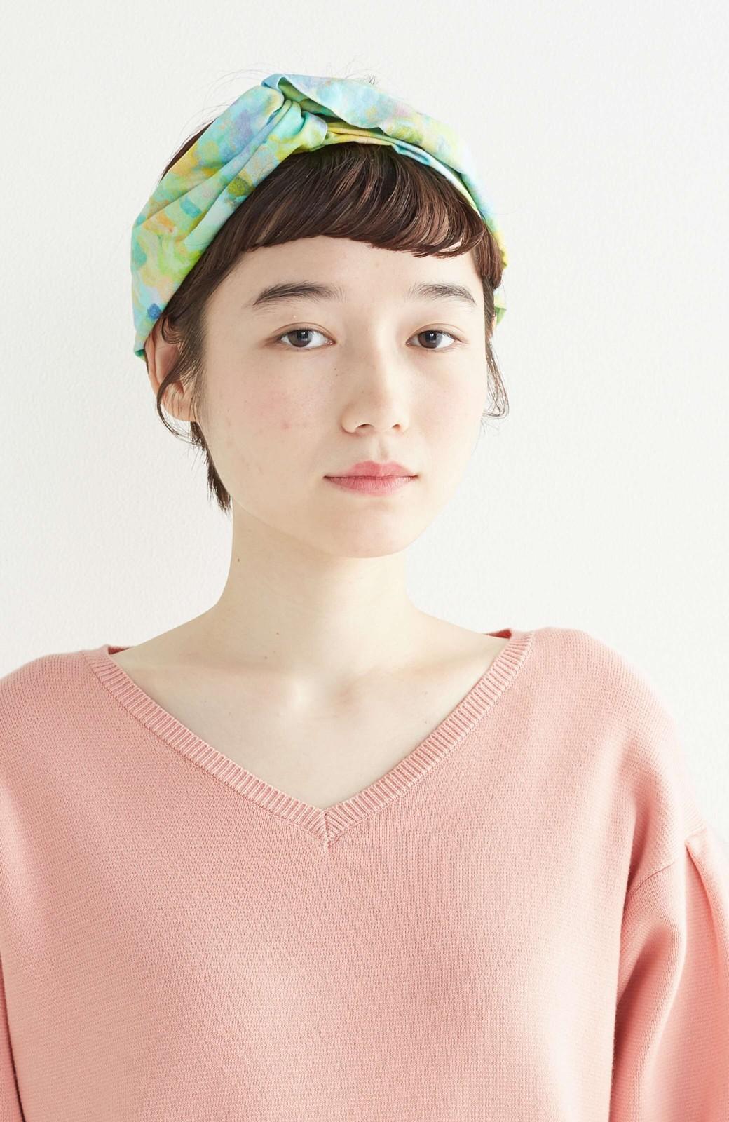 haco! UNICOLART KOHAYAKAWA KIRIKO [砂] 顔まわりが華やかになるカチューム <ブルー系その他>の商品写真7