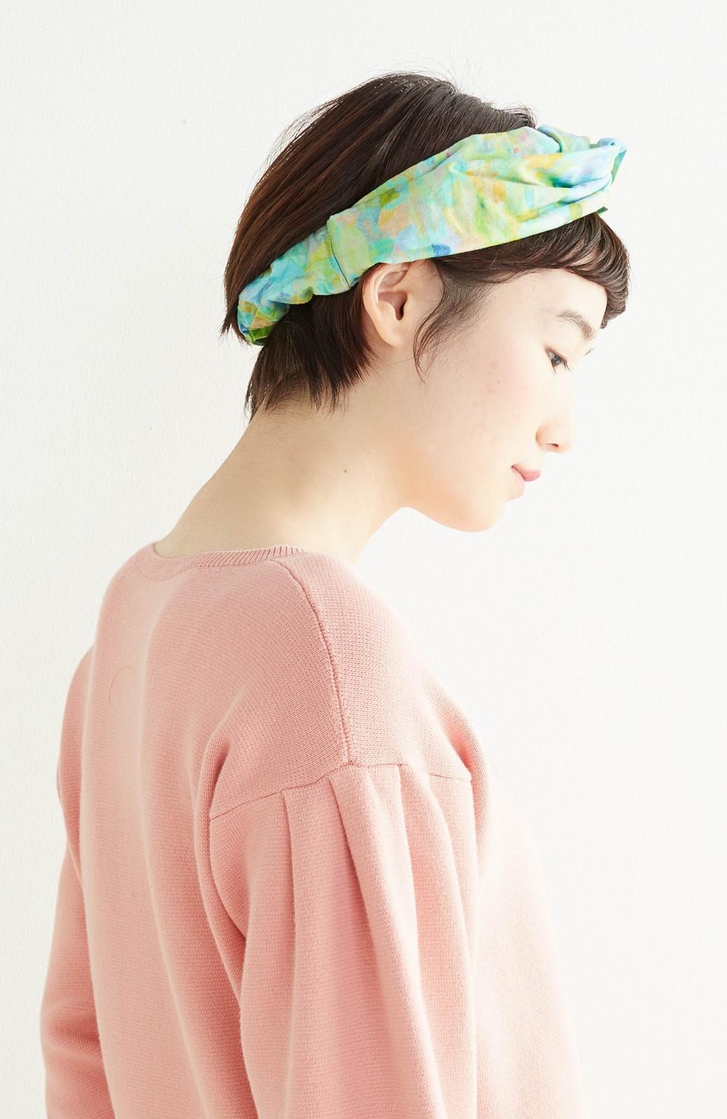 haco! UNICOLART KOHAYAKAWA KIRIKO [砂] 顔まわりが華やかになるカチューム <ブルー系その他>の商品写真9