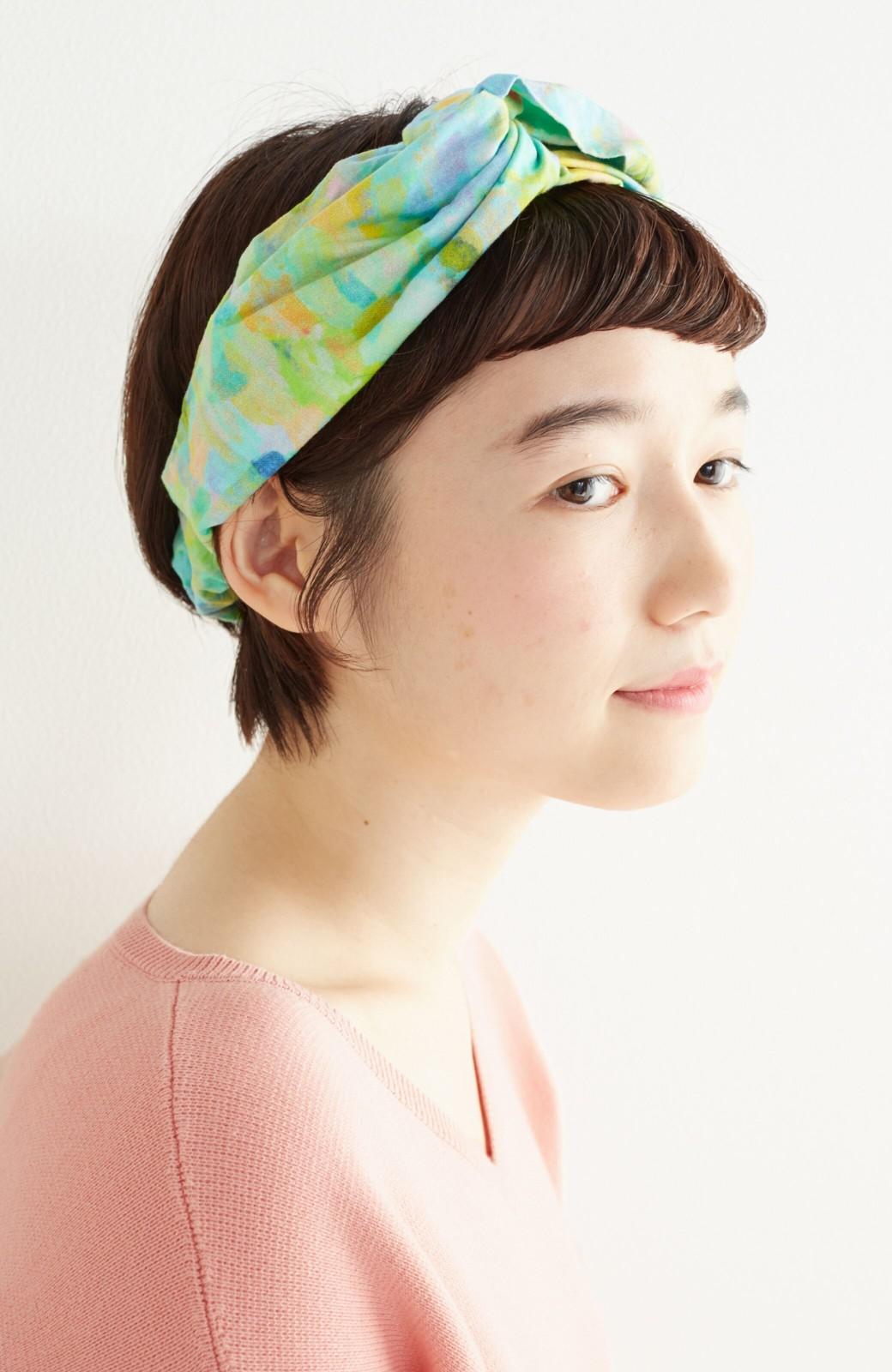 haco! UNICOLART KOHAYAKAWA KIRIKO [砂] 顔まわりが華やかになるカチューム <ブルー系その他>の商品写真1