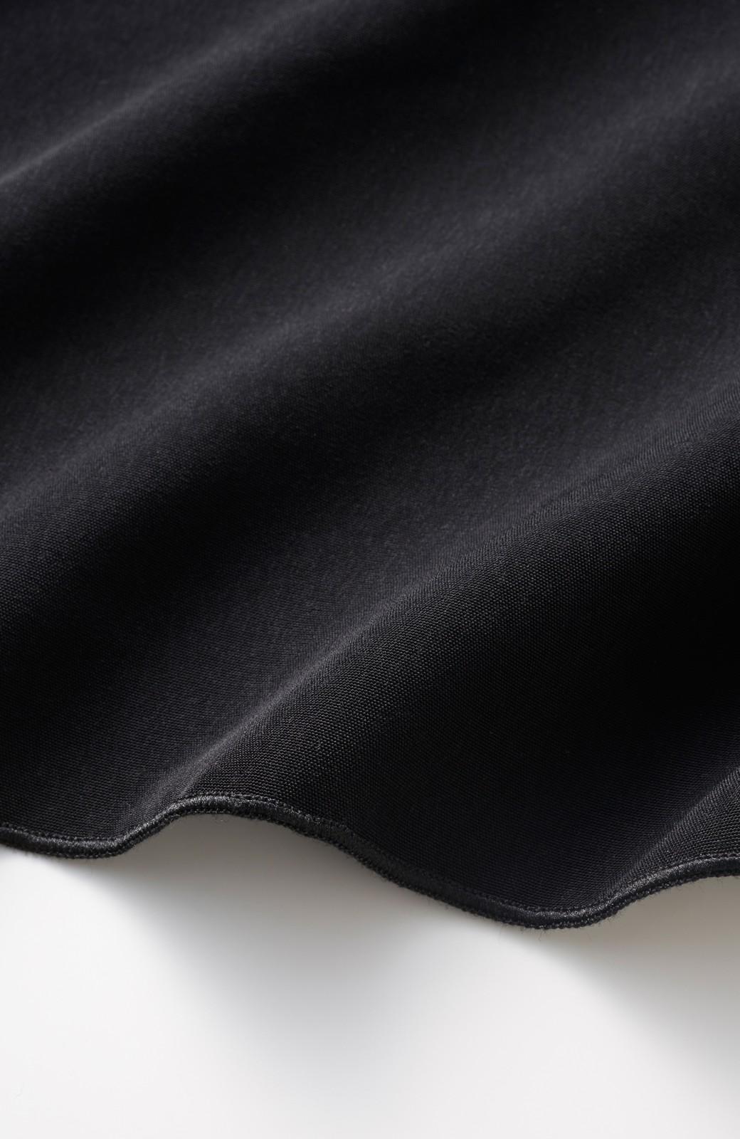 エムトロワ セットアップ風ウエストリボンオールインワン <ブラック>の商品写真2