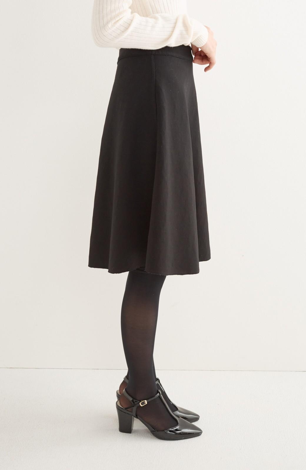 エムトロワ 定番ブラックと華やかレースのリバーシブルフレアースカート <ブラック>の商品写真6