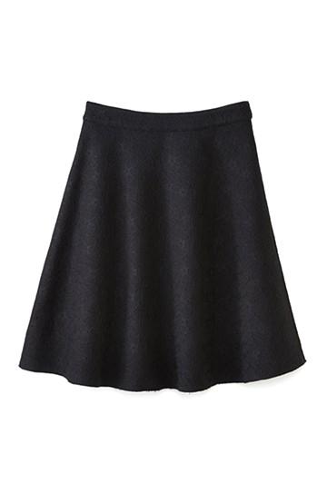 エムトロワ 定番ブラックと華やかレースのリバーシブルフレアースカート <ブラック>の商品写真