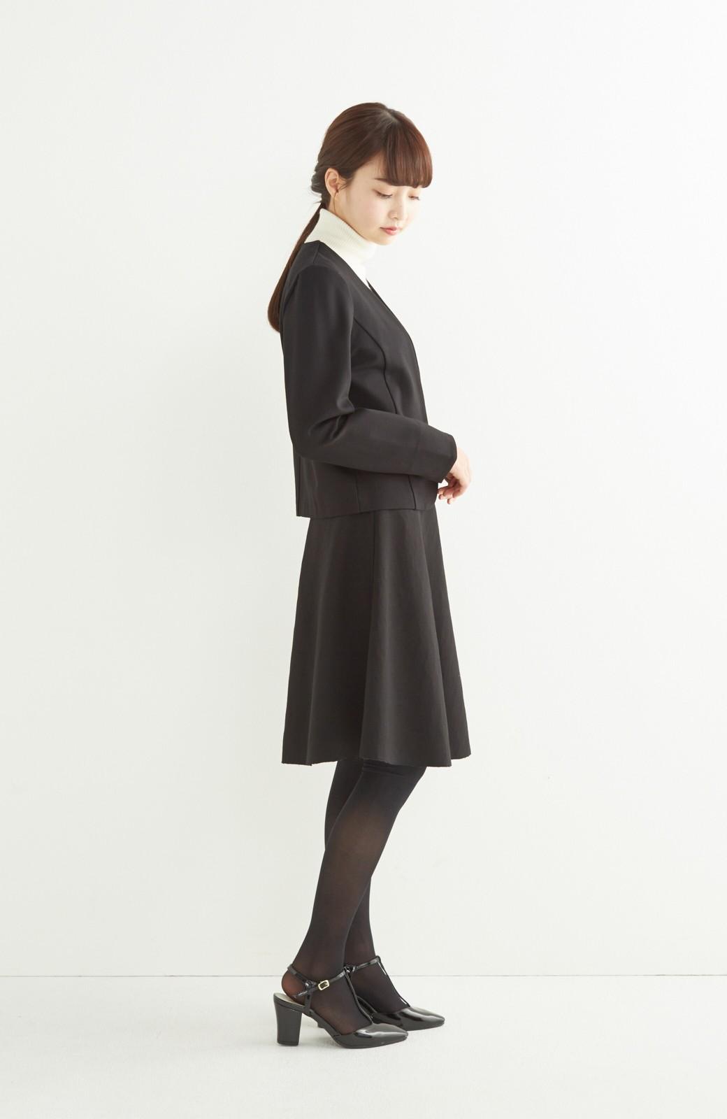 エムトロワ 定番ブラックと華やかレースのリバーシブルフレアースカート <ブラック>の商品写真14