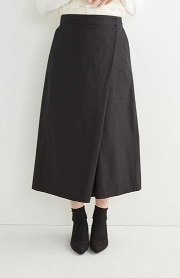 エムトロワ きちんと見えつつ動きやすい 大人きれいスカーチョ <ブラック>の商品写真