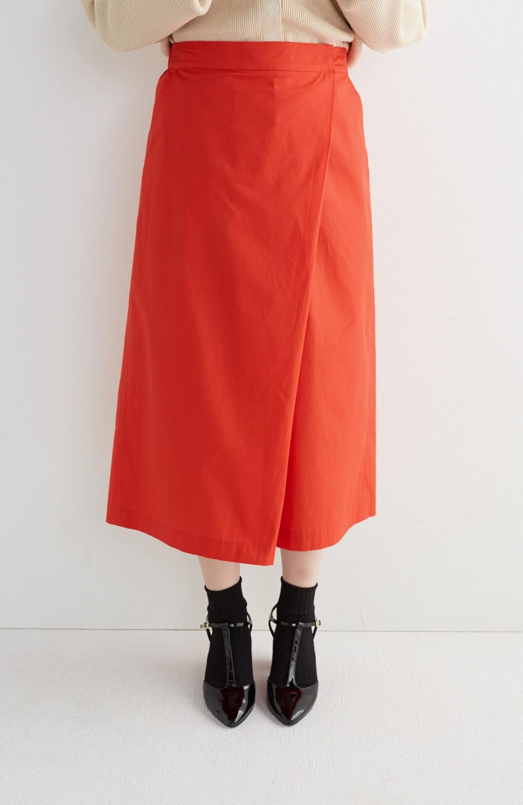 エムトロワ 【mer6月号掲載】きちんと見えつつ動きやすい 大人きれいスカーチョ <レッド>の商品写真1
