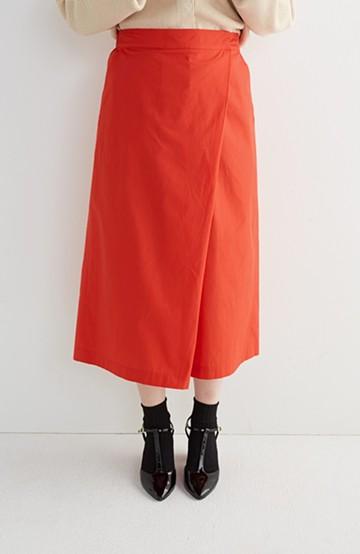 エムトロワ きちんと見えつつ動きやすい 大人きれいスカーチョ <レッド>の商品写真
