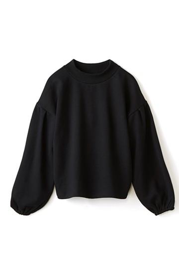 nusy 袖ふくらみ感が女っぽいボトルネックスウェット <ブラック>の商品写真