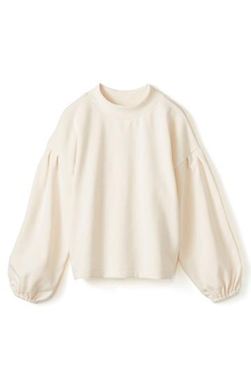 nusy 袖ふくらみ感が女っぽいボトルネックスウェット <アイボリー>の商品写真