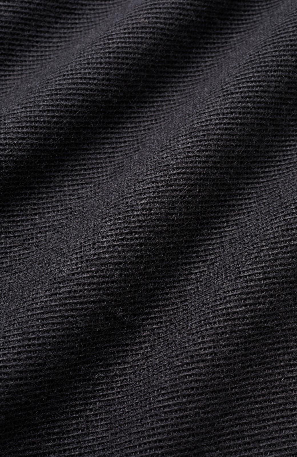 nusy きれいに見えて着心地らくちん Vネックワイドオールインワン <ブラック>の商品写真3