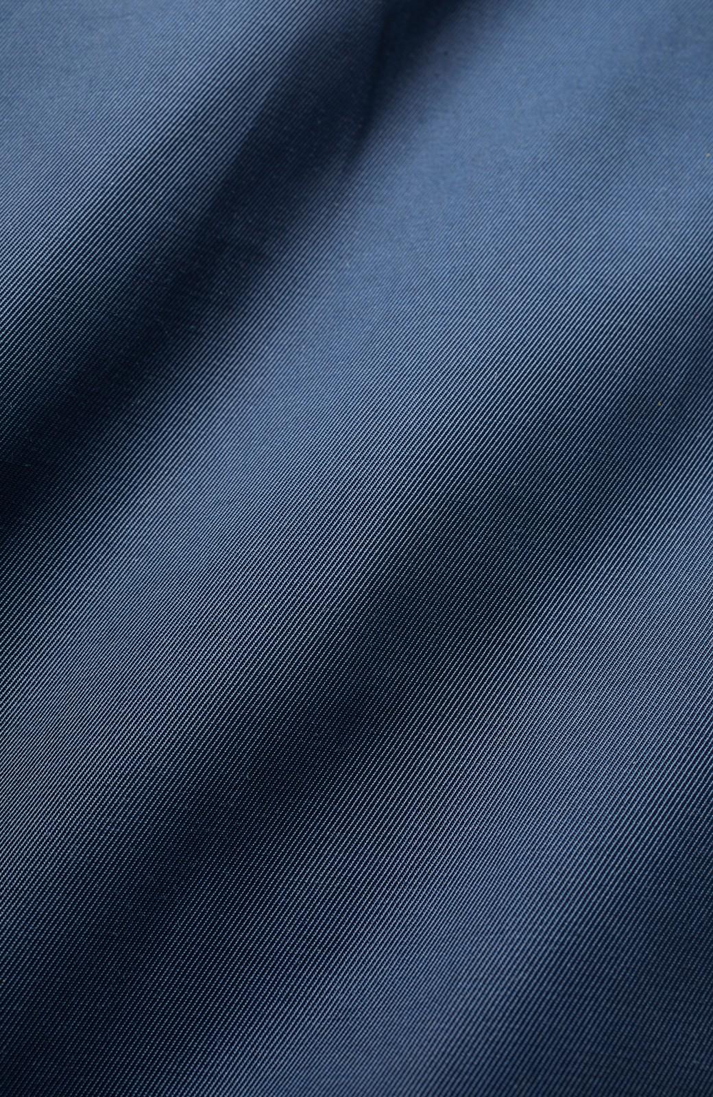 エムトロワ さっと羽織ってかっこいいロングトレンチコート <ネイビー>の商品写真3