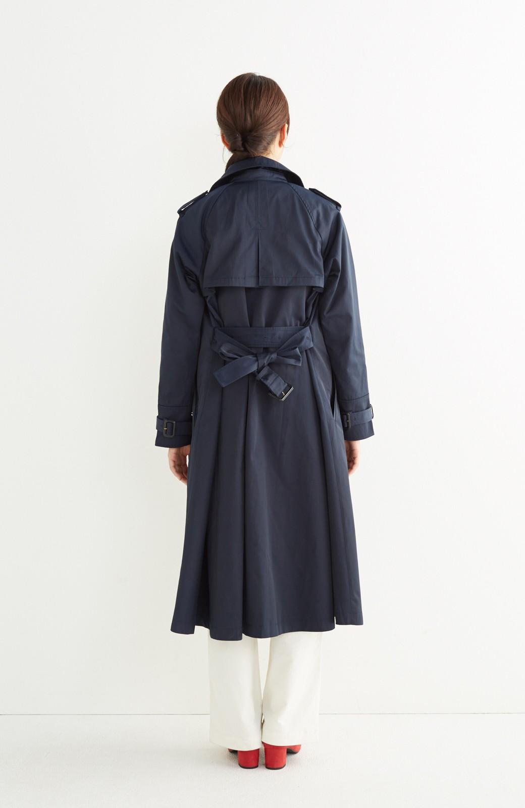 エムトロワ さっと羽織ってかっこいいロングトレンチコート <ネイビー>の商品写真12