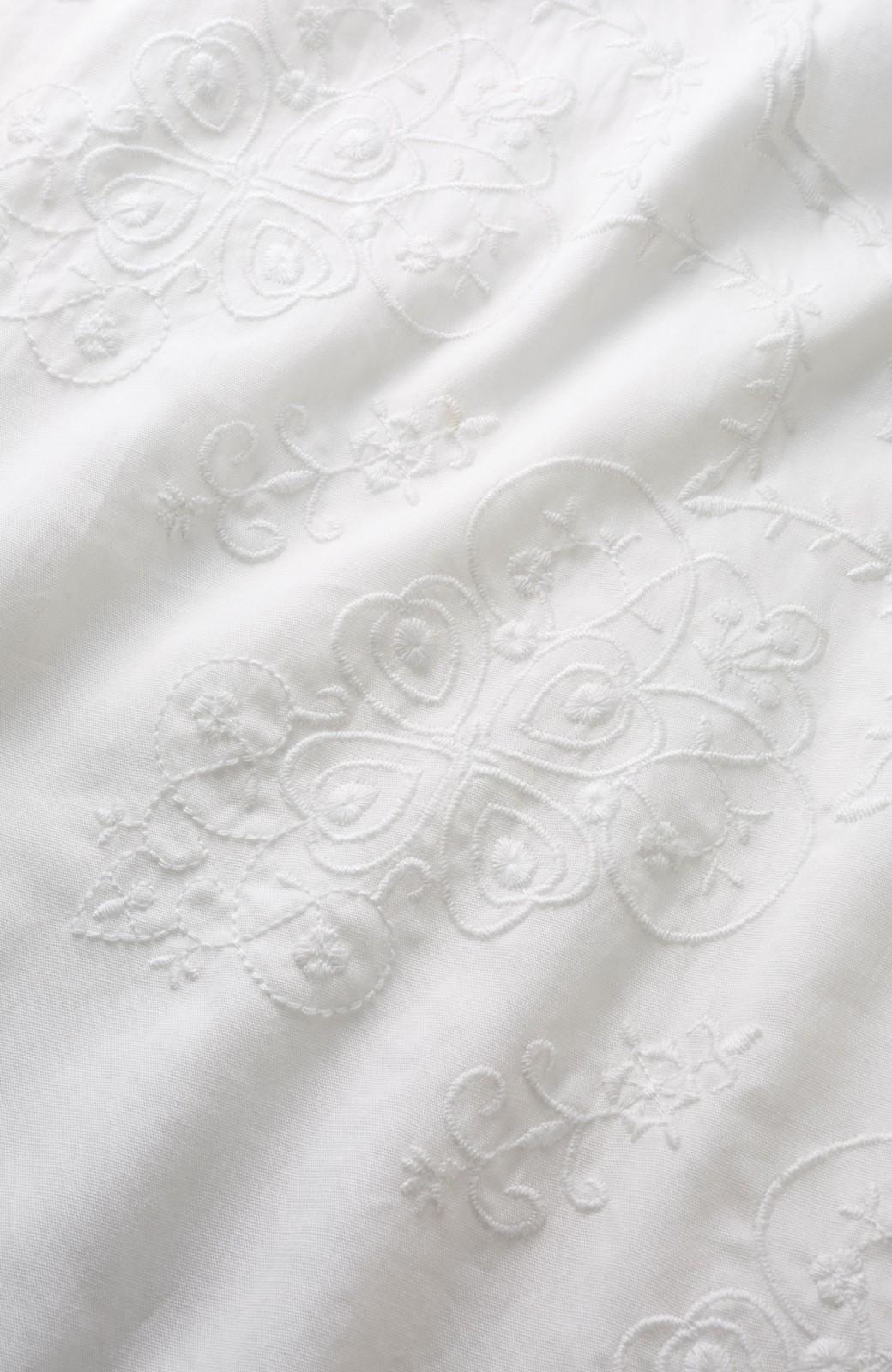エムトロワ 羽織りにもなるスカラップレースカシュクールワンピース <ホワイト>の商品写真2