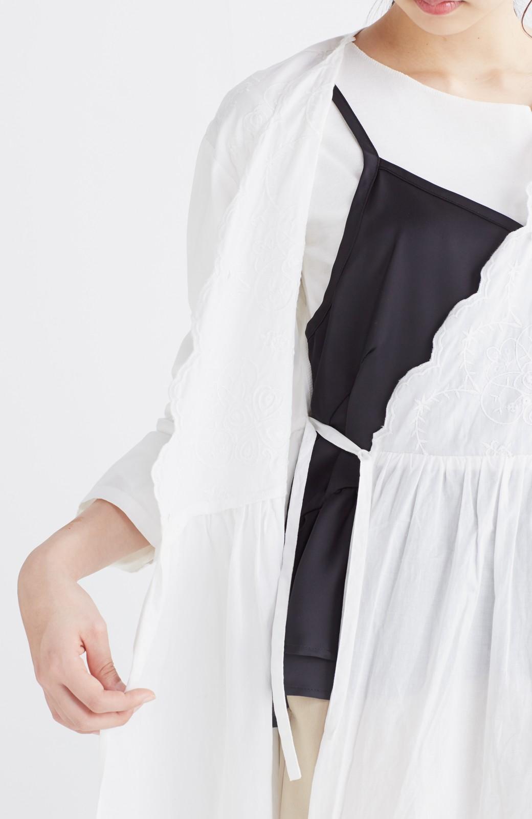 エムトロワ 羽織りにもなるスカラップレースカシュクールワンピース <ホワイト>の商品写真18
