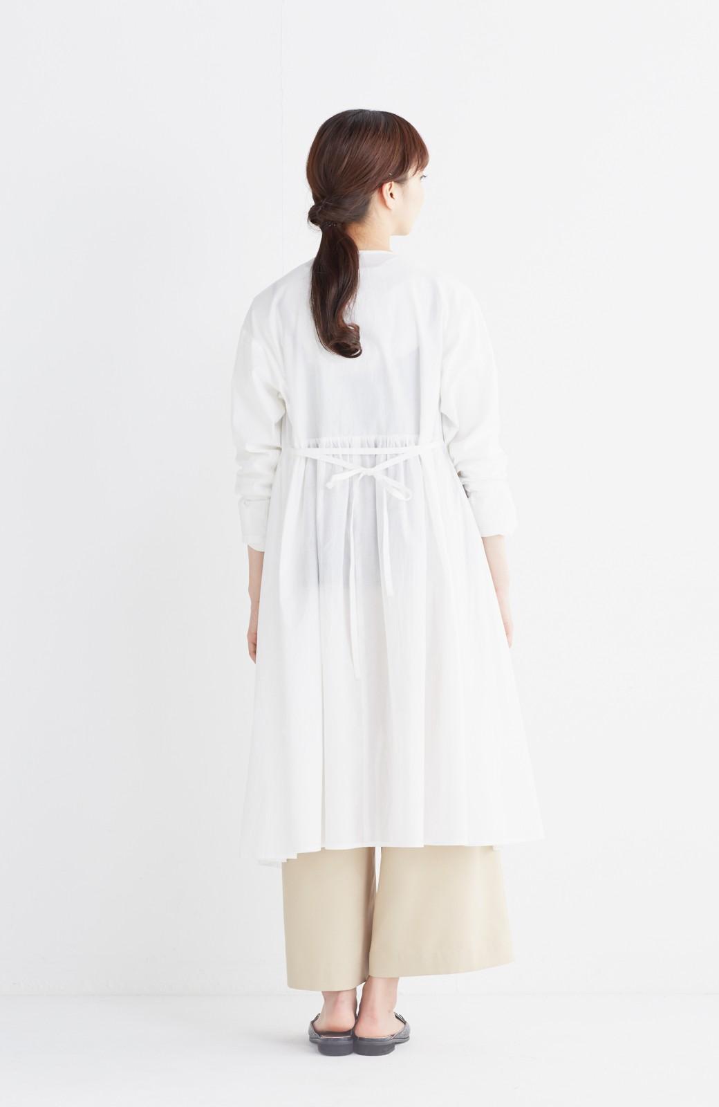 エムトロワ 羽織りにもなるスカラップレースカシュクールワンピース <ホワイト>の商品写真9
