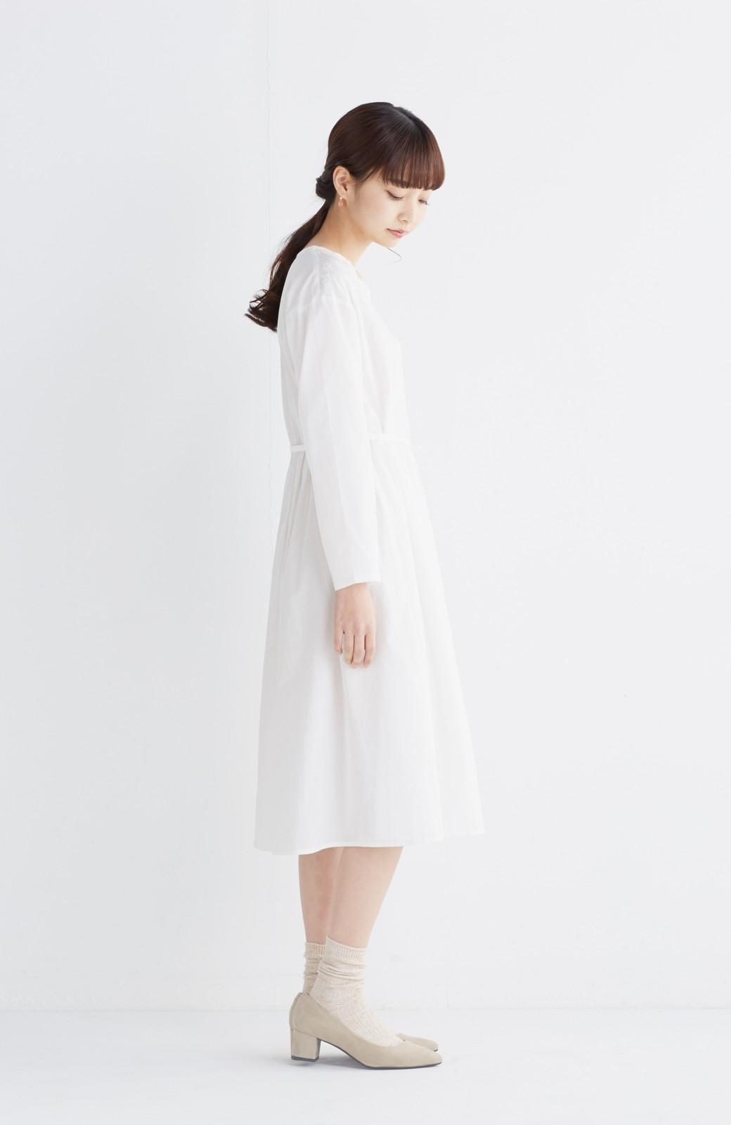 エムトロワ 羽織りにもなるスカラップレースカシュクールワンピース <ホワイト>の商品写真6