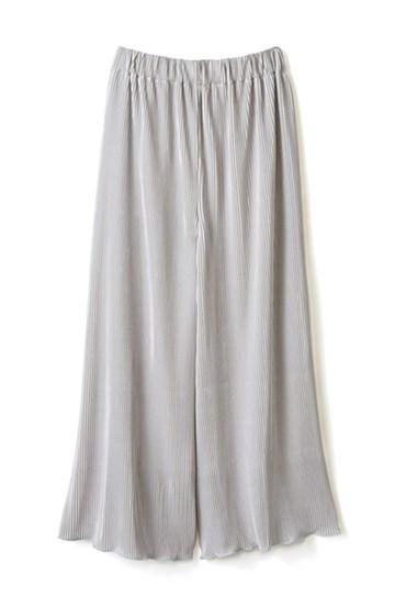エムトロワ 思わずスキップしたくなる きれい色の繊細プリーツスカーチョ <ライトグレー>の商品写真
