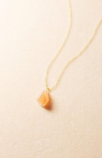 haco! お守りのようにそっと身に付けたい 華奢なチェーンの天然石ネックレス <コーラル>の商品写真