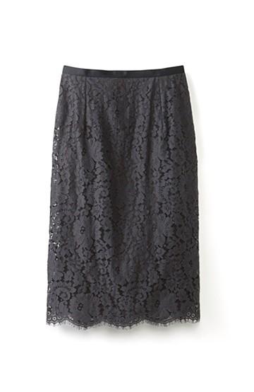 エムトロワ パッと着て華やぐ レースタイトスカート <スミクロ>の商品写真