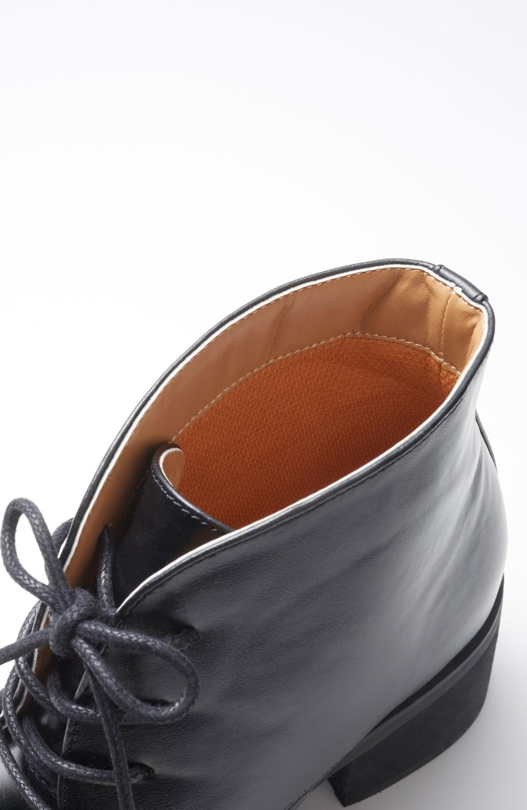 haco! ハイカットスニーカー感覚で履ける 2WAYレースアップマニッシュシューズ <ブラック>の商品写真3