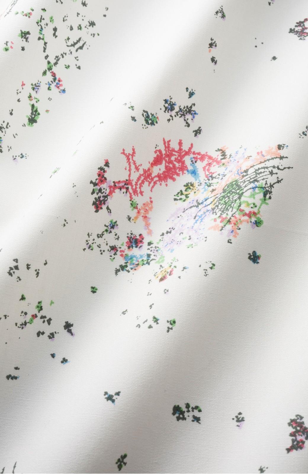 haco! UNICOLART SEII SATOSHI [世界] 華やぐゆったりワンピース  <ホワイト系その他>の商品写真2