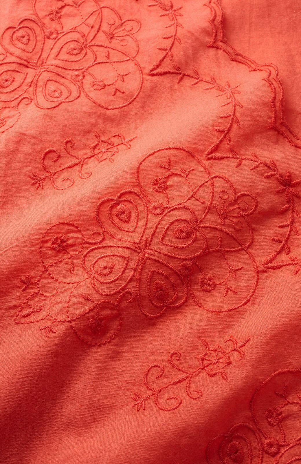 エムトロワ 羽織りにもなるスカラップレースカシュクールワンピース <オレンジ系その他>の商品写真2