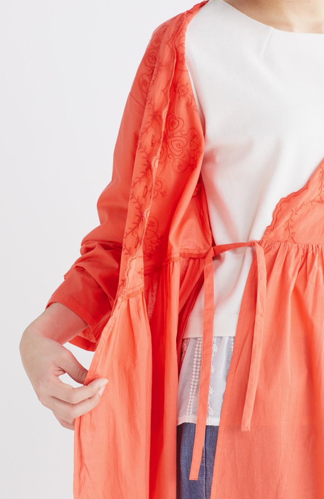 エムトロワ 羽織りにもなるスカラップレースカシュクールワンピース <オレンジ系その他>の商品写真18