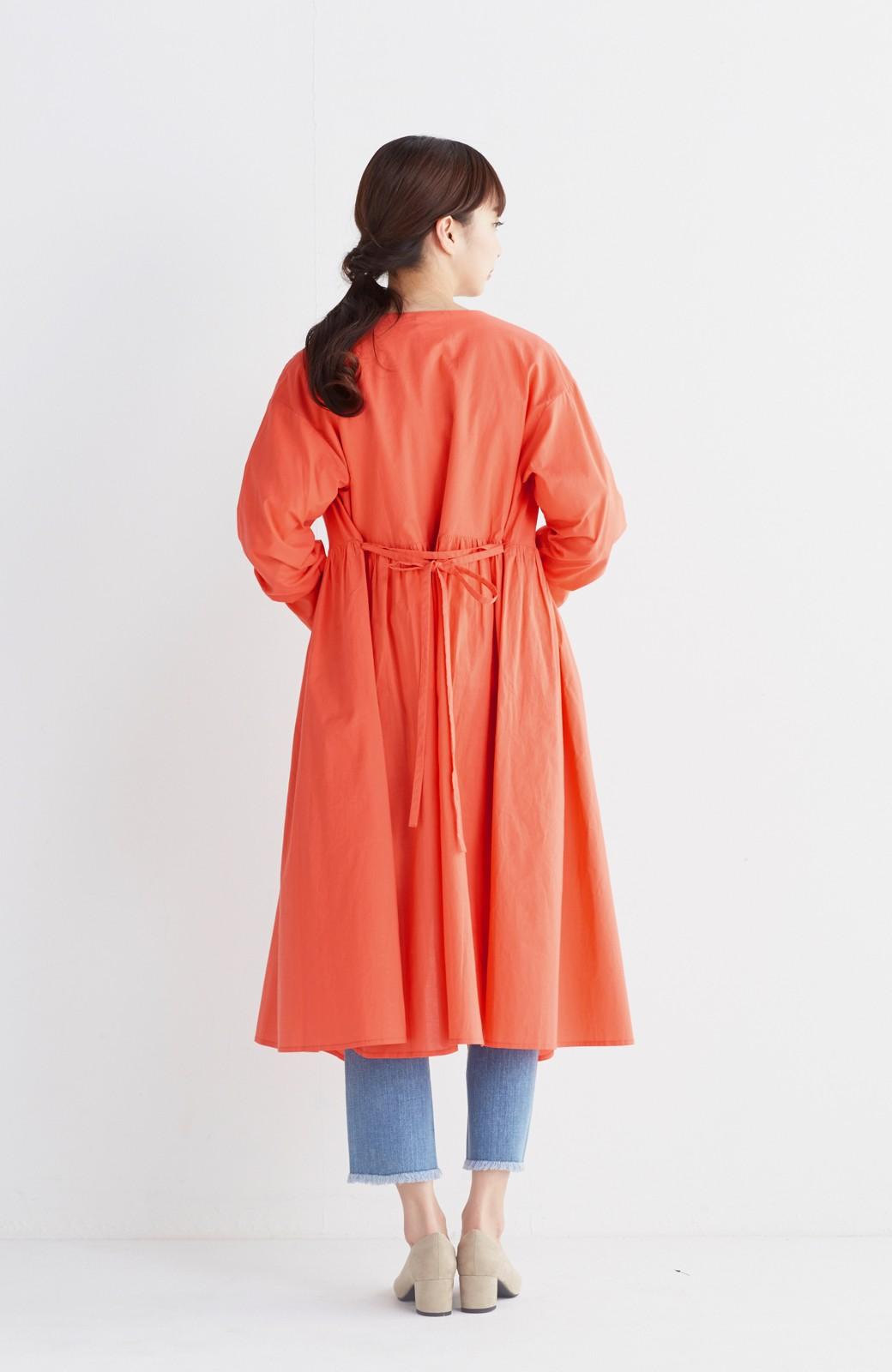 エムトロワ 羽織りにもなるスカラップレースカシュクールワンピース <オレンジ系その他>の商品写真9