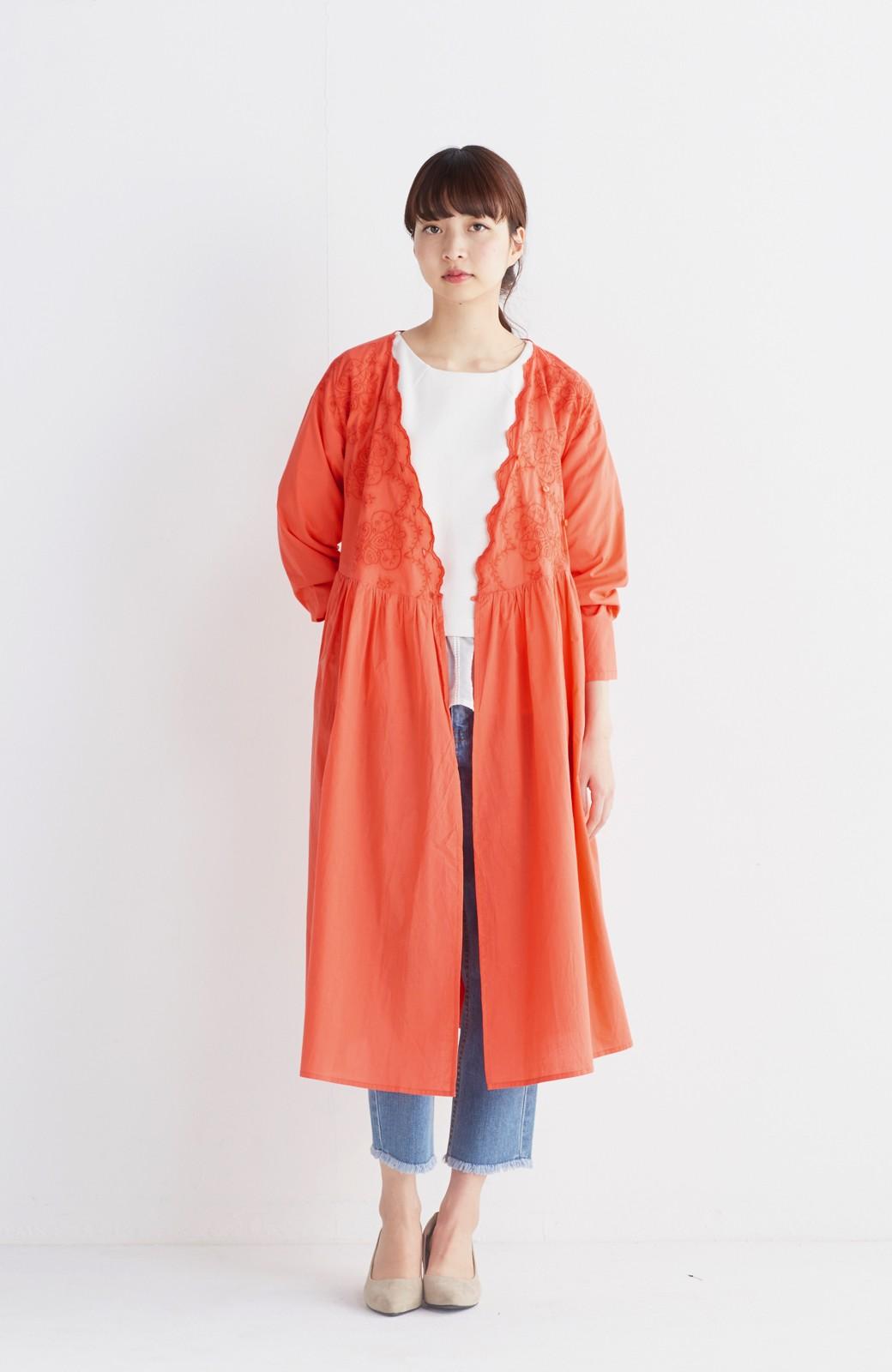 エムトロワ 羽織りにもなるスカラップレースカシュクールワンピース <オレンジ系その他>の商品写真4