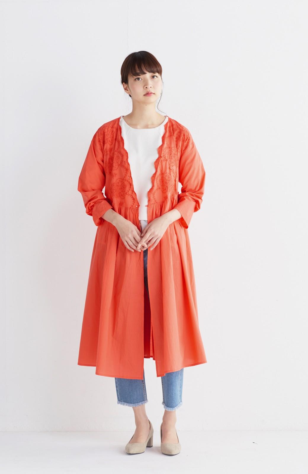 エムトロワ 羽織りにもなるスカラップレースカシュクールワンピース <オレンジ系その他>の商品写真5