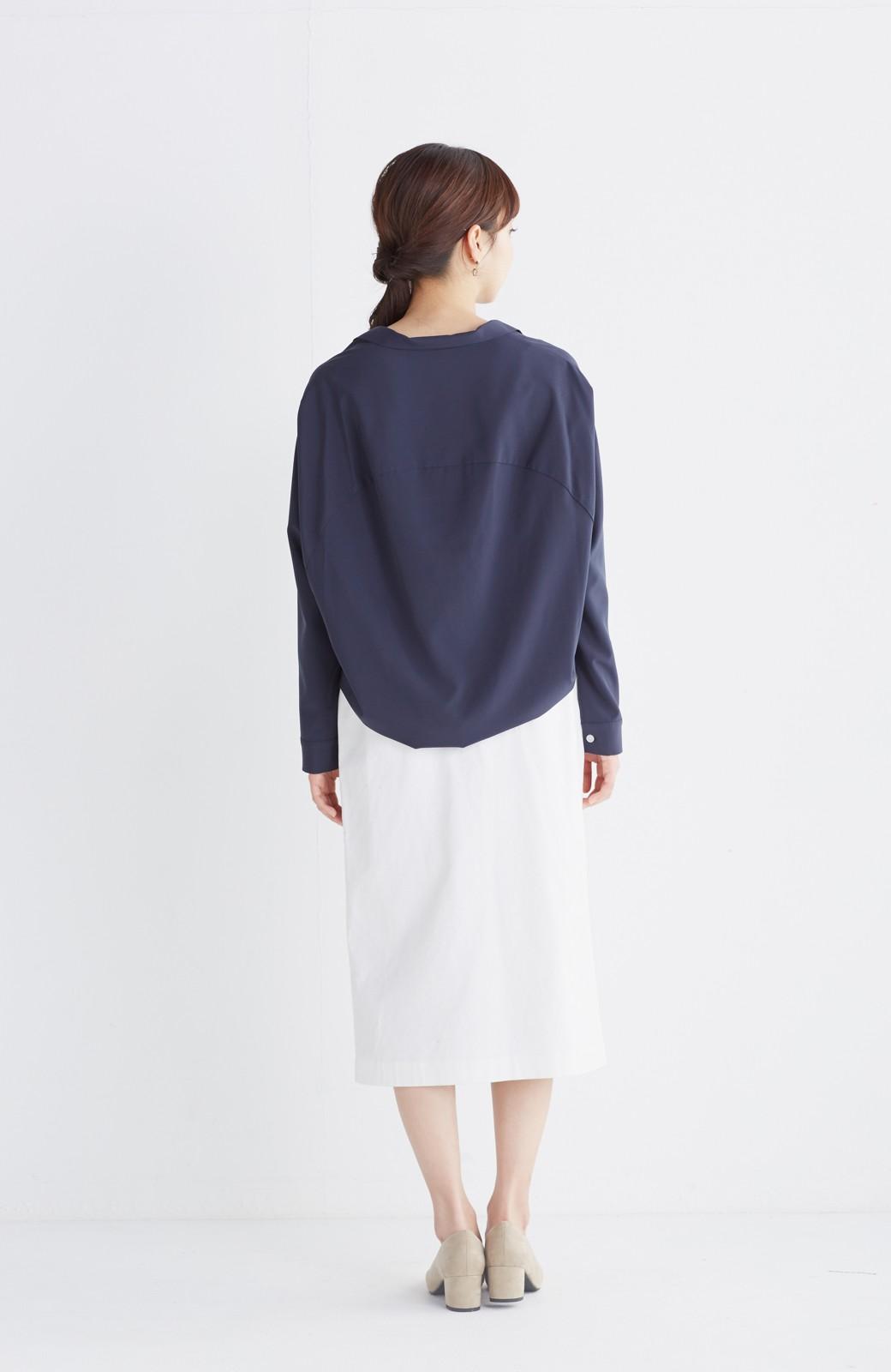haco! パッと着るだけで女らしくてかっこいい ラップ風スカート by que made me <ホワイト>の商品写真11