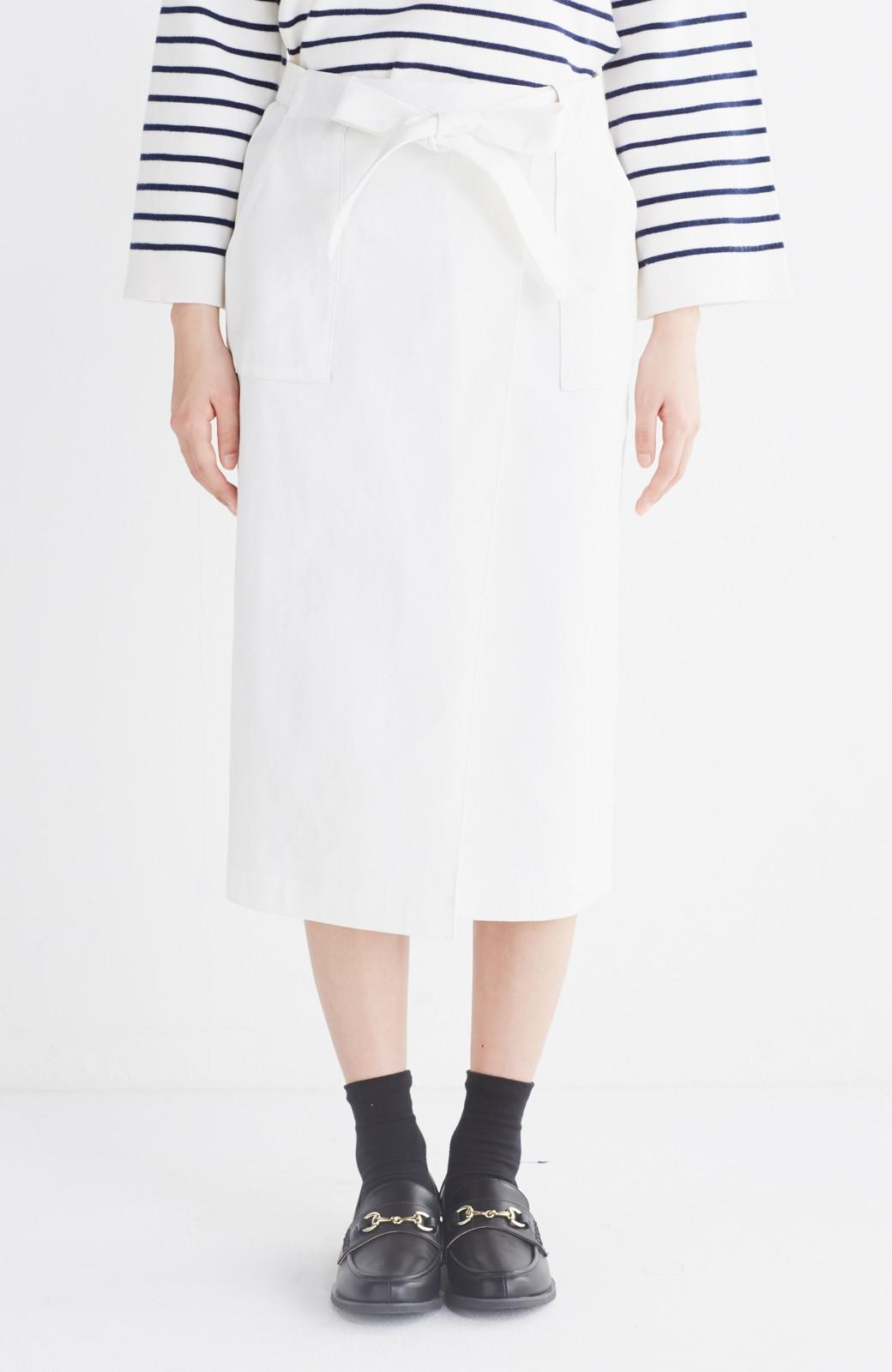 haco! パッと着るだけで女らしくてかっこいい ラップ風スカート by que made me <ホワイト>の商品写真13