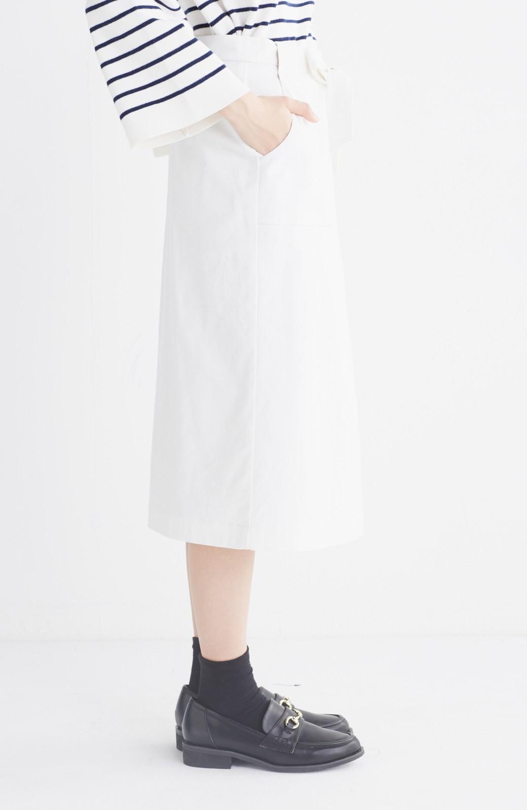 haco! パッと着るだけで女らしくてかっこいい ラップ風スカート by que made me <ホワイト>の商品写真15