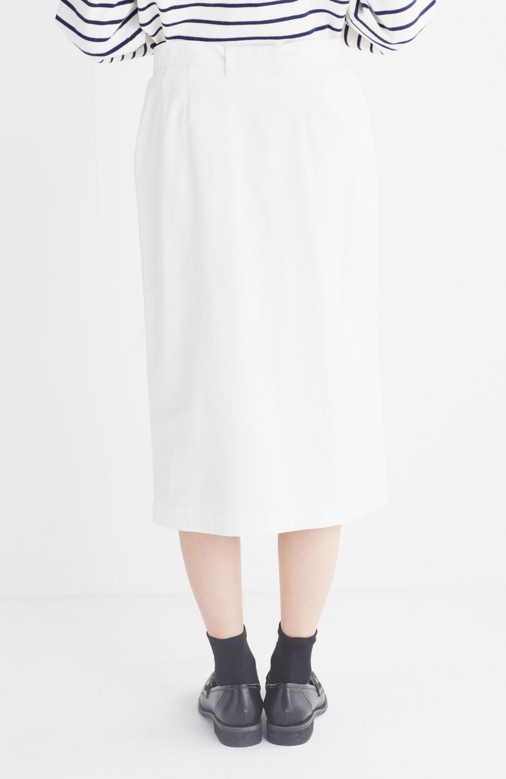 haco! パッと着るだけで女らしくてかっこいい ラップ風スカート by que made me <ホワイト>の商品写真16